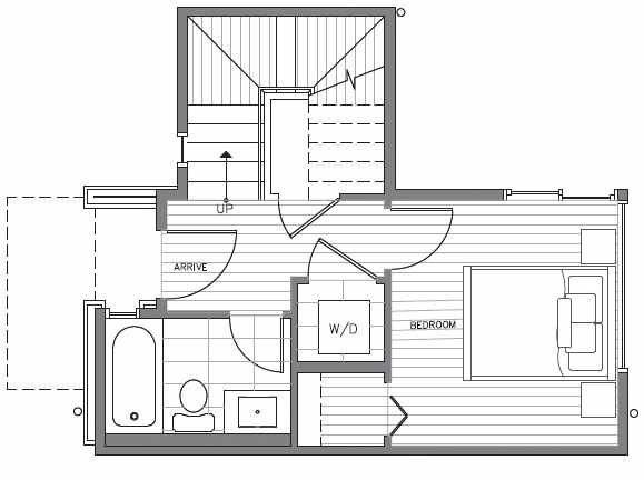 First Floor Plan at 418D 10th Ave E of the Core 6.2 Townhomes in Capitol Hill