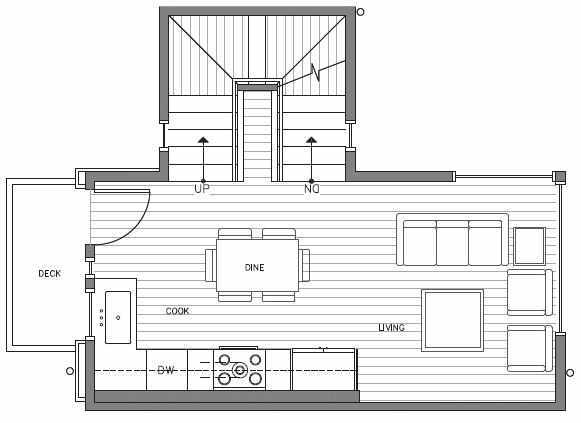 Second Floor Plan at 418D 10th Ave E of the Core 6.2 Townhomes in Capitol Hill