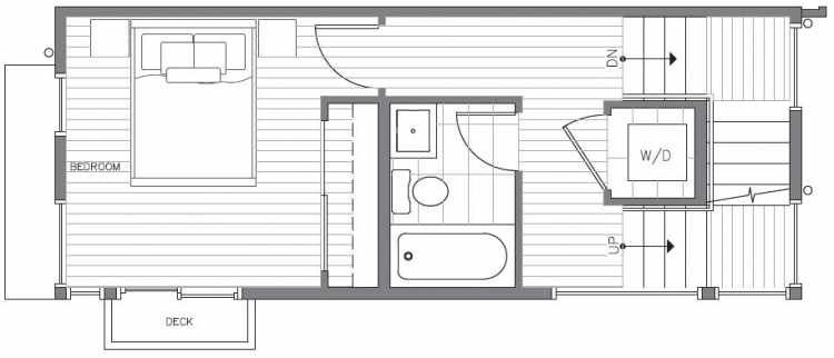 Second Floor Plan at 418E 10th Ave E of the Core 6.2 Townhomes in Capitol Hill