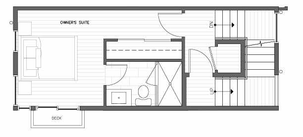 Third Floor Plan at 418E 10th Ave E of the Core 6.2 Townhomes in Capitol Hill