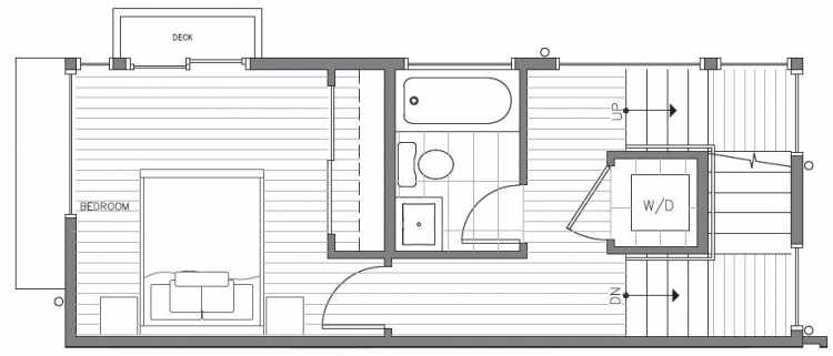 Second Floor Plan at 418F 10th Ave E of the Core 6.2 Townhomes in Capitol Hill