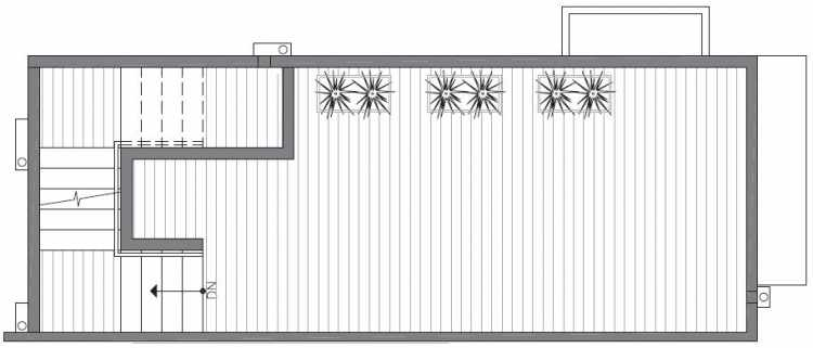 Roof Deck Floor Plan of 422A 10th Ave E of the Core 6.1 Townhomes in Capitol Hill