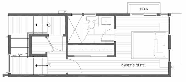 Third Floor Plan of 422A 10th Ave E of the Core 6.1 Townhomes in Capitol Hill