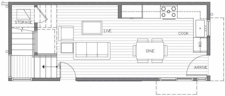 First Floor Plan of 422B 10th Ave E of the Core 6.1 Townhomes in Capitol Hill