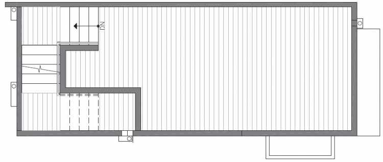 Roof Deck Floor Plan of 422B 10th Ave E of the Core 6.1 Townhomes in Capitol Hill