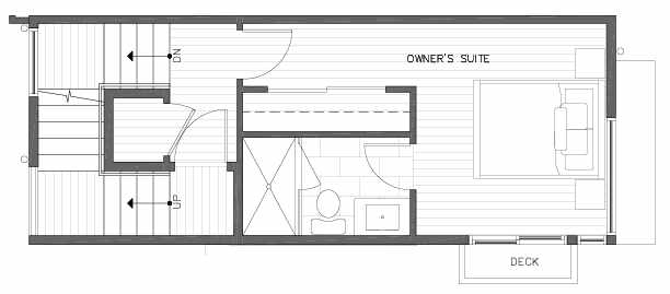 Third Floor Plan of 422B 10th Ave E of the Core 6.1 Townhomes in Capitol Hill