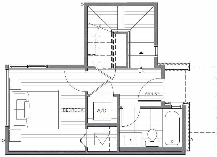 First Floor Plan of 422C 10th Ave E of the Core 6.1 Townhomes in Capitol Hill