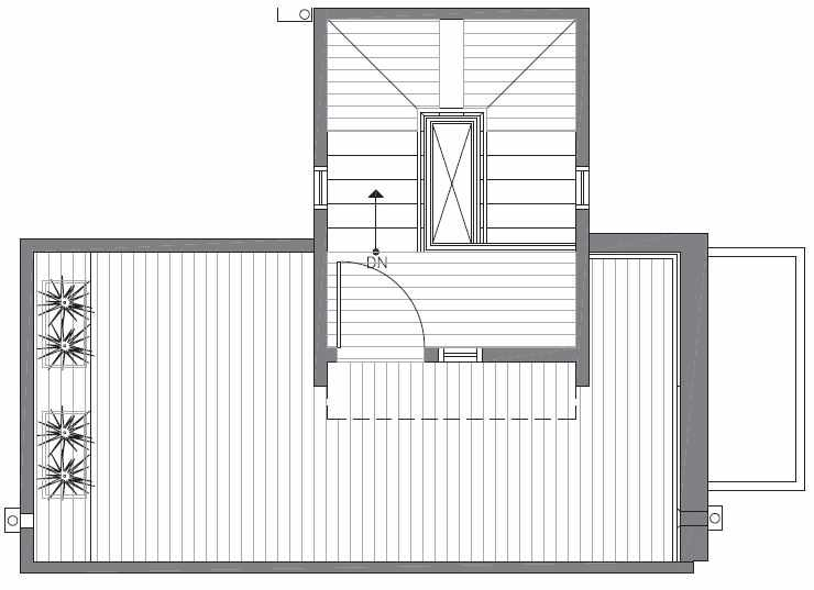 Roof Deck Floor Plan of 422C 10th Ave E of the Core 6.1 Townhomes in Capitol Hill