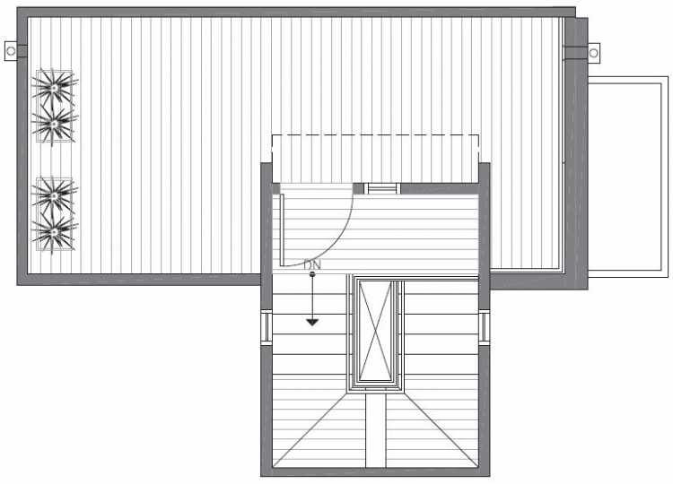 Roof Deck Floor Plan of 422D 10th Ave E of the Core 6.1 Townhomes in Capitol Hill