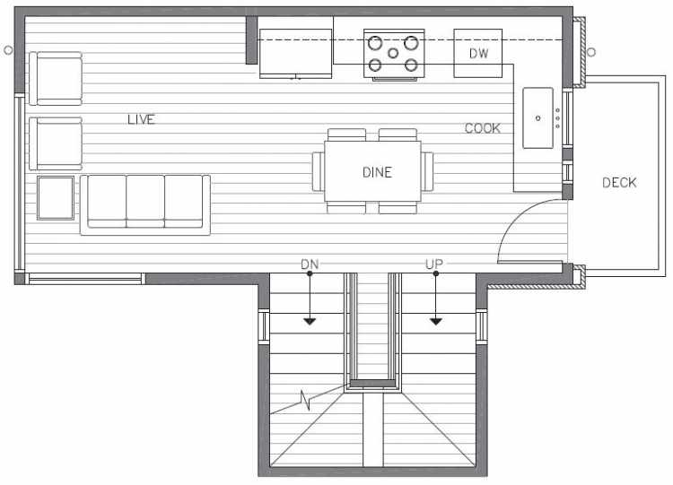 Second Floor Plan of 422D 10th Ave E of the Core 6.1 Townhomes in Capitol Hill
