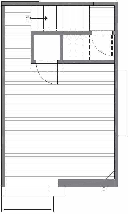 Roof Deck Floor Plan of 422E 10th Ave E of the Core 6.1 Townhomes in Capitol Hill