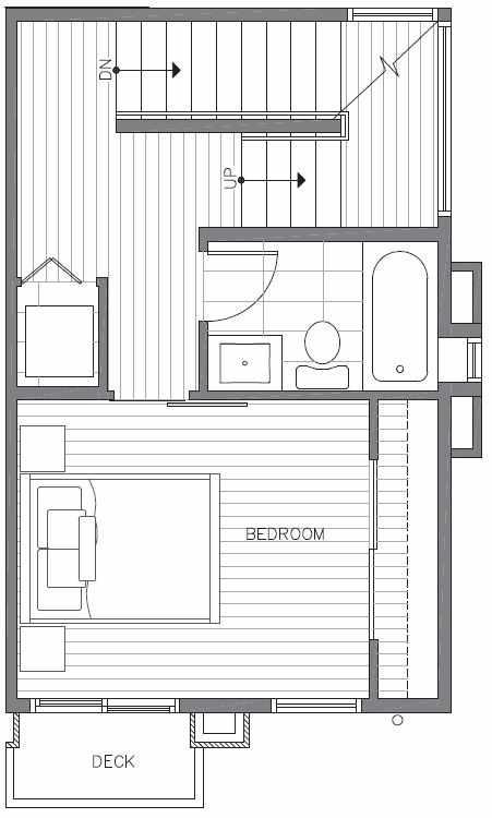 Second Floor Plan of 422E 10th Ave E of the Core 6.1 Townhomes in Capitol Hill