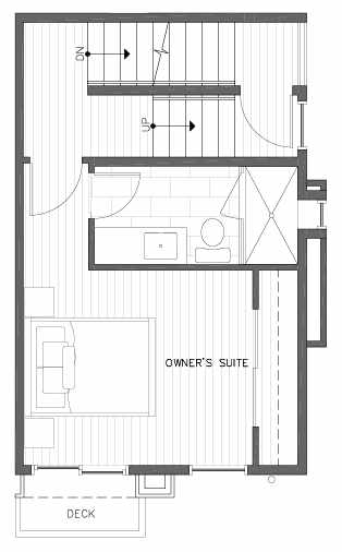 Third Floor Plan of 422E 10th Ave E of the Core 6.1 Townhomes in Capitol Hill