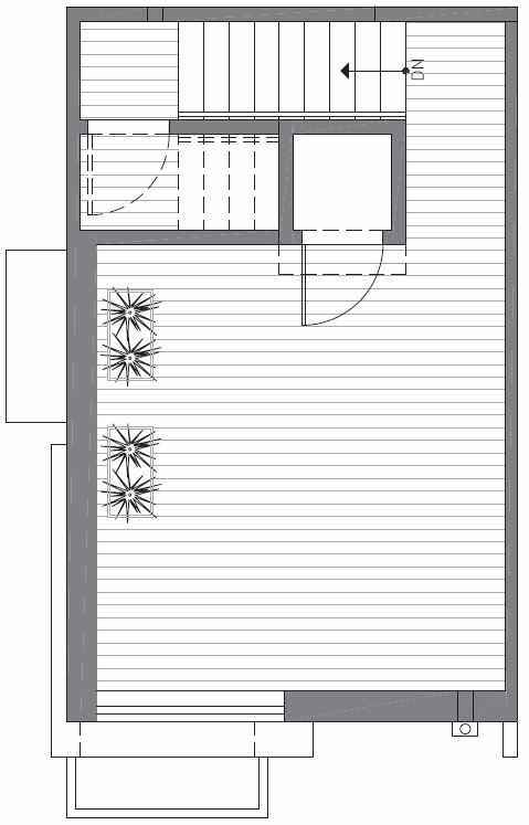 Roof Deck Floor Plan of 422F 10th Ave E of the Core 6.1 Townhomes in Capitol Hill