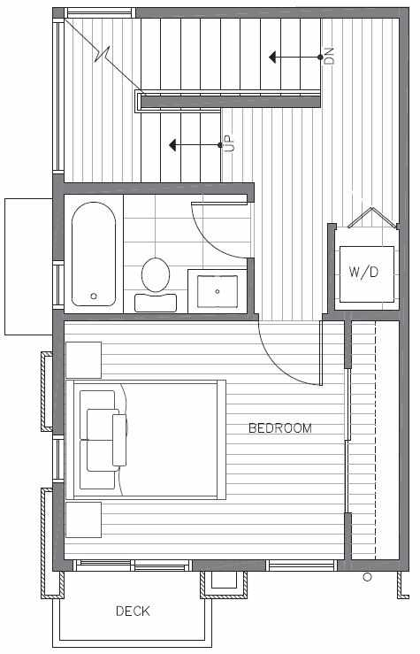 Second Floor Plan of 422F 10th Ave E of the Core 6.1 Townhomes in Capitol Hill