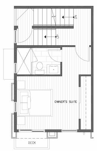 Third Floor Plan of 422F 10th Ave E of the Core 6.1 Townhomes in Capitol Hill