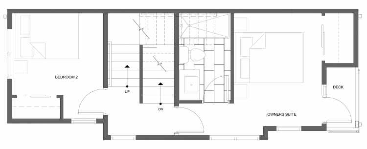 Second Floor Plan of 4322A Winslow Pl N, One of the Powell Townhome by Isola Homes