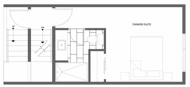 Third Floor Plan of 4322B Winslow Pl N, One of the Powell Townhome by Isola Homes