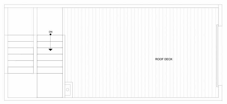 Roof Deck Floor Plan of 4322B Winslow Pl N, One of the Powell Townhome by Isola Homes
