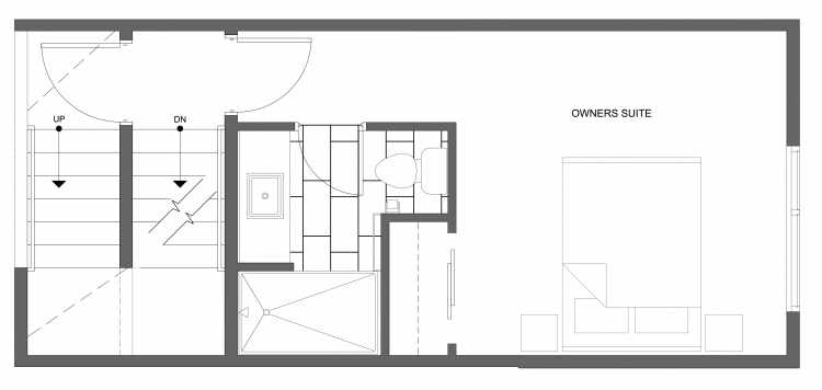 Third Floor Plan of 4322D Winslow Pl N, One of the Powell Townhome by Isola Homes