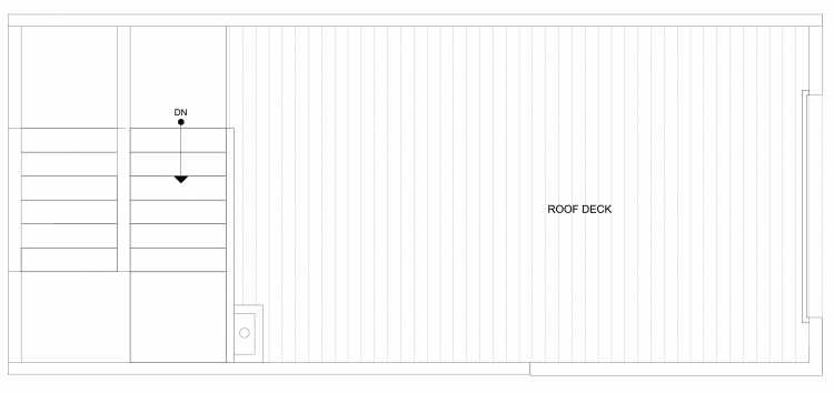 Roof Deck Floor Plan of 4322F Winslow Pl N, One of the Powell Townhome by Isola Homes