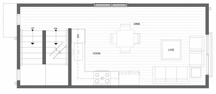 Second Floor Plan of 4322G Winslow Pl N, One of the Powell Townhome by Isola Homes