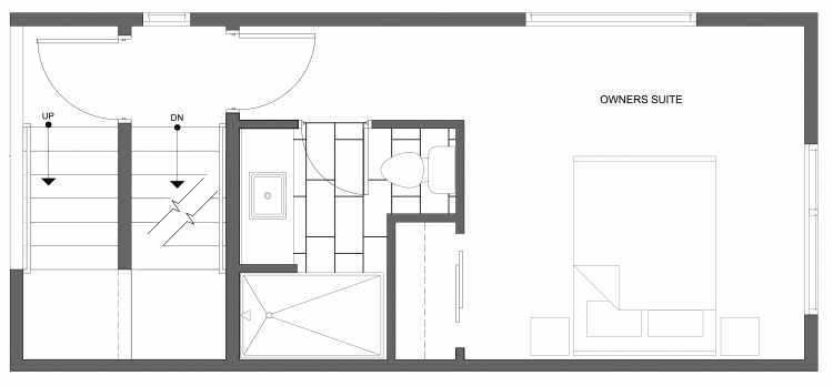 Third Floor Plan of 4322G Winslow Pl N, One of the Powell Townhome by Isola Homes
