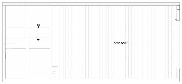 Roof Deck Floor Plan of 4322G Winslow Pl N, One of the Powell Townhome by Isola Homes