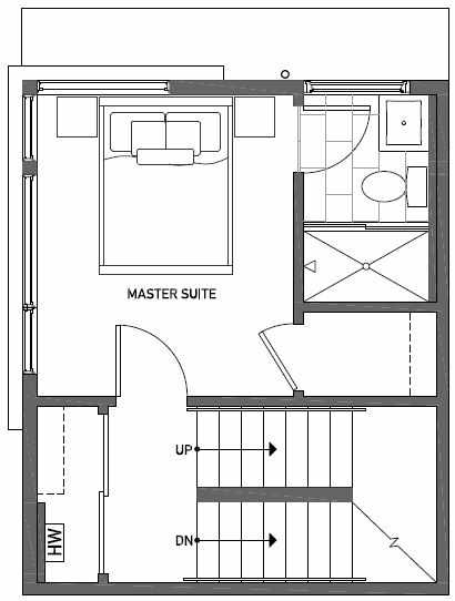 Third Floor Plan of 437A NE 73rd Street in Verde Towns 1 by Isola Homes