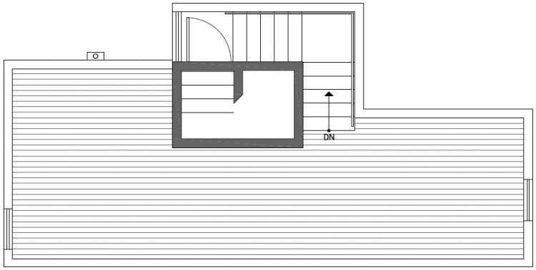Roof Deck Floor Plan of 437B NE 73rd Street in Verde Towns 1 by Isola Homes
