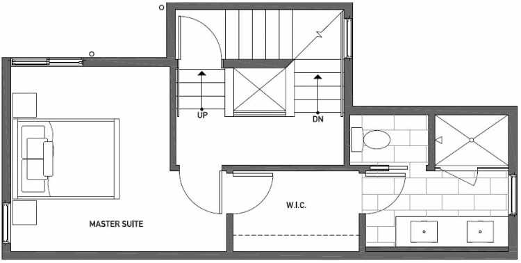 Third Floor Plan of 437B NE 73rd Street in Verde Towns 1 by Isola Homes