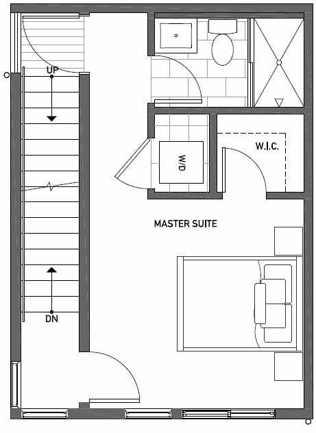 Third Floor Plan of 437C NE 73rd Street in Verde Towns 1 by Isola Homes