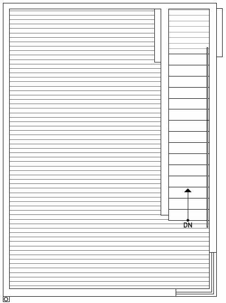 Roof Deck Floor Plan of 437D NE 73rd Street in Verde Towns 1 by Isola Homes