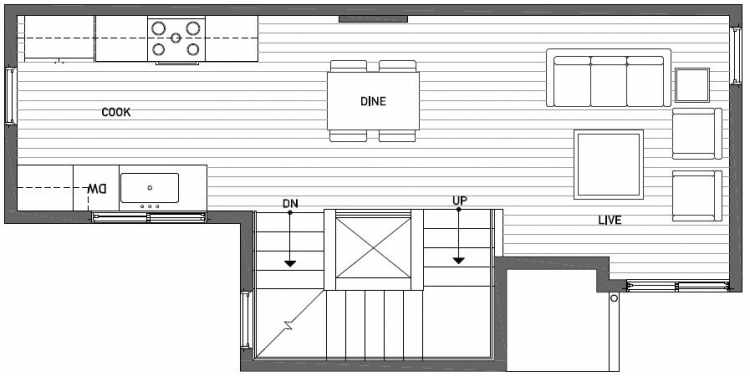 Second Floor Plan of 437E NE 73rd Street in Verde Towns 1 by Isola Homes