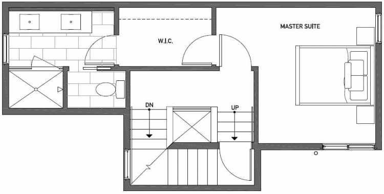 Third Floor Plan of 437E NE 73rd Street in Verde Towns 1 by Isola Homes