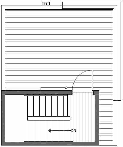 Roof Deck Floor Plan of 437F NE 73rd Street in Verde Towns 1 by Isola Homes