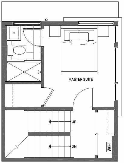 Third Floor Plan of 437F NE 73rd Street in Verde Towns 1 by Isola Homes