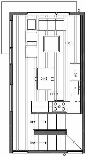 Second Floor Plan of 443 NE 73rd St of Verde Towns by Isola Homes