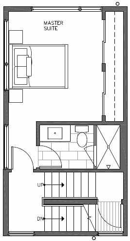 Third Floor Plan of 443 NE 73rd St of Verde Towns by Isola Homes