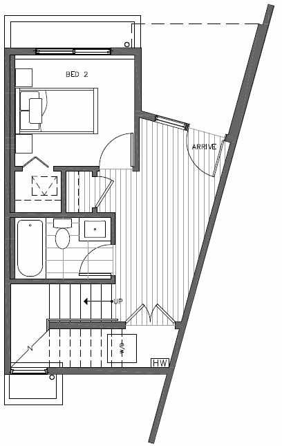 First Floor Plan of 445 NE 73rd St of Verde Towns by Isola Homes