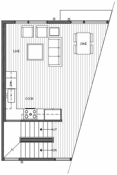 Second Floor Plan of 445 NE 73rd St of Verde Towns by Isola Homes