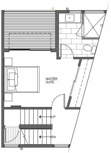 Third Floor Plan of 445 NE 73rd St of Verde Towns by Isola Homes