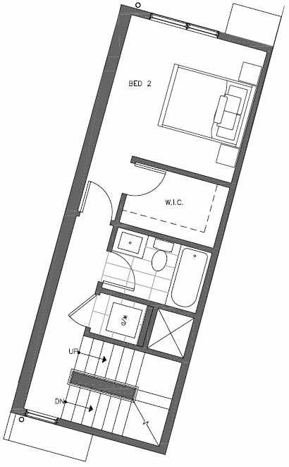 Second Floor Plan of 447 NE 73rd St of Verde Towns by Isola Homes