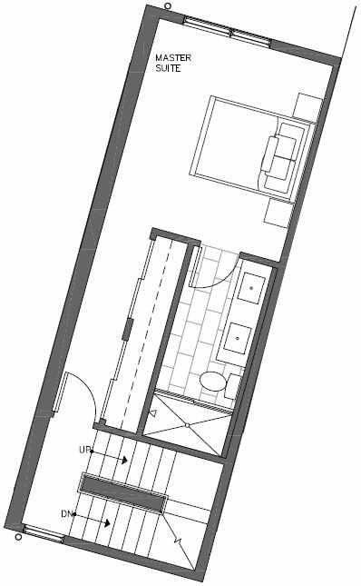 Third Floor Plan of 447 NE 73rd St of Verde Towns by Isola Homes