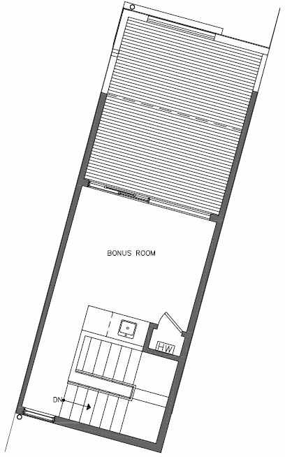 Fourth Floor Plan of 449 NE 73rd St of Verde Towns by Isola Homes