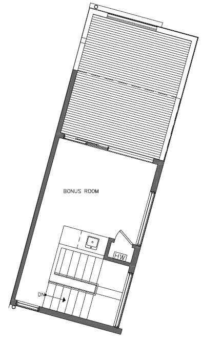 Fourth Floor Plan of 451 NE 73rd St of Verde Towns by Isola Homes