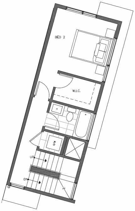 Second Floor Plan of 451 NE 73rd St of Verde Towns by Isola Homes