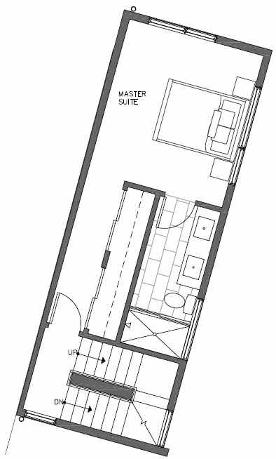 Third Floor Plan of 451 NE 73rd St of Verde Towns by Isola Homes