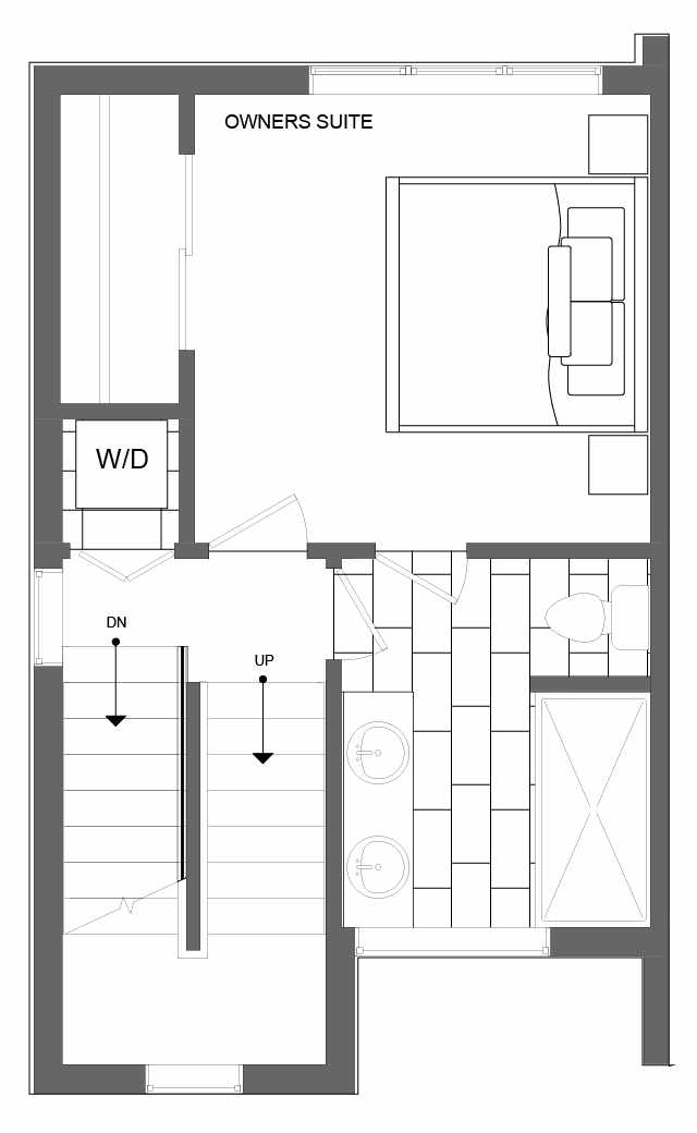 Third Floor Plan of 4721E 32nd Ave S, One of the Lana Townhomes in Columbia City