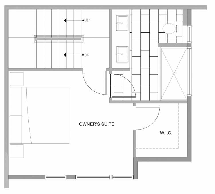 Third Floor Plan of 4727B 32nd Ave S, One of the Sterling Townhomes in Columbia City